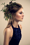 Profile of pretty young female Royalty Free Stock Photos