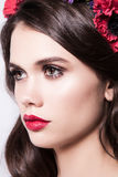 Profile of prety woman looking away Royalty Free Stock Image