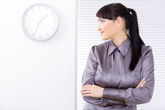 Profile prortrait of businesswoman Stock Images