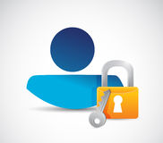 Profile security avatar icon concept illustration Stock Images