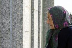 Profile of a senior woman stock photography