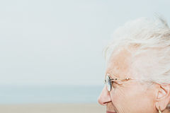 Profile of a senior woman Royalty Free Stock Photography