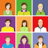 Profile set icon avatar male and female portrait Royalty Free Stock Photos