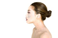 Profile of asian woman Royalty Free Stock Photo