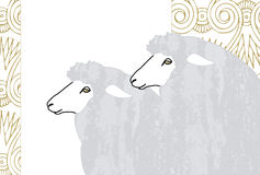 Profile of sheep Royalty Free Stock Images
