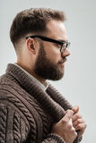 Profile shot of handsome man with beard Stock Photography