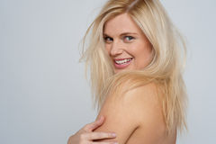 Profile shot of a nude woman Royalty Free Stock Photos