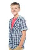 Profile shot of smart young boy posing casually Stock Photo