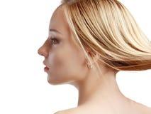 Profile side portrait Stock Photos