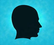 Profile of silhouette Royalty Free Stock Photo