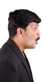 Profile of surprised man Royalty Free Stock Photos