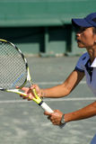 Profile of tennis player Royalty Free Stock Photography