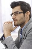 Profile of thinking businessman Royalty Free Stock Photo