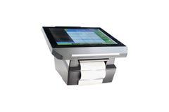 Profile touchscreen point of sale terminal Stock Photos