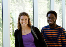 Profile of two University students Stock Images