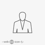 Profile vector icon Royalty Free Stock Image