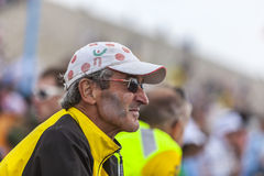 Profile of Veteran Fan of Le Tour de France Royalty Free Stock Photography