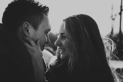 Profile view of an attractive couple Royalty Free Stock Photography