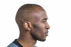 Profile view of confident sportsman Royalty Free Stock Images