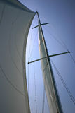 Profile View of Large Mast. An abstract photo of a mast on a large sailboat Royalty Free Stock Image