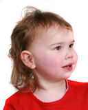 Profile view of a little girl Royalty Free Stock Image