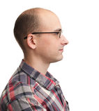 Profile view of man with eyeglasses Royalty Free Stock Images