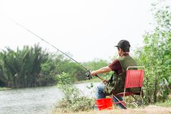 Calm fisherman Royalty Free Stock Photography