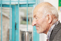 Profile view of senior man Royalty Free Stock Photography