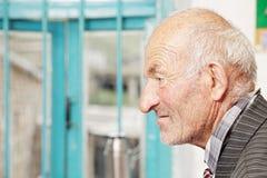 Profile view of senior man Royalty Free Stock Photography