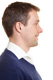 Profile view of smiling business Royalty Free Stock Photo