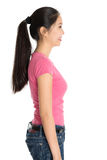 Profile view of young Asian girl Stock Photography