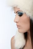 Profile of winter beauty Royalty Free Stock Images