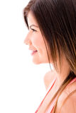 Profile of a woman Stock Images