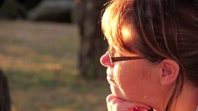 Profile Woman stock video footage