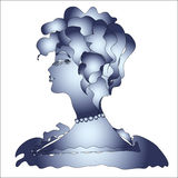Profile of the woman 1. Profile of the proud beauty. Vector illustration Royalty Free Stock Photography