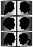 Profile of womans silhouette Royalty Free Stock Photos
