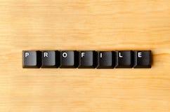 Profile word Stock Photo