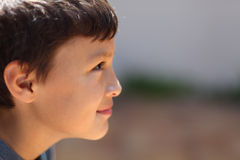 Profile of young boy Stock Photo