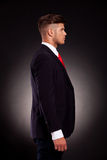 Profile of a young business man Royalty Free Stock Photos