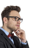 Profile of a Young Businessman Royalty Free Stock Images