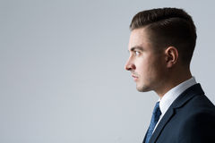 Profile of young businessperson Stock Photography