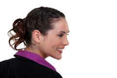 Profile of a young businesswoman Stock Photos