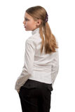 Profile of young caucasian girl Stock Images