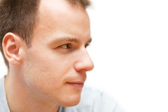 Profile of young man Stock Photography