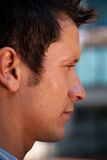Profile of a Young Man. With a Short Depth of Field Stock Photography