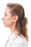 Profile of a young woman Royalty Free Stock Photo