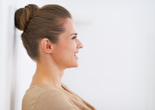 Profile young woman royalty free stock photos