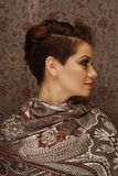 Profile of a young woman with short haircut Royalty Free Stock Photos