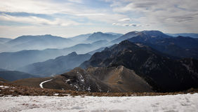 Profiled mountains (niu d'�liga) Royalty Free Stock Images