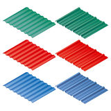 Profiled sheeting. Metal roofing and siding. Vector illustration Royalty Free Stock Images